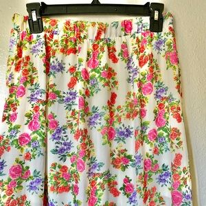 Floral Maxi Split Skirt